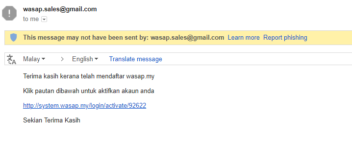 email dari wasap.my